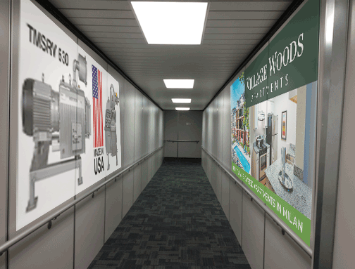 QC Airport Jetway Advertising from AdMospheres Media & Marketing